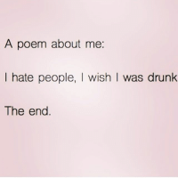 Nothing like waking up at 4am on a Saturday to make you hate the world queens_over_bitches: A poem about me  I hate people, l wish l was drunk  The end Nothing like waking up at 4am on a Saturday to make you hate the world queens_over_bitches
