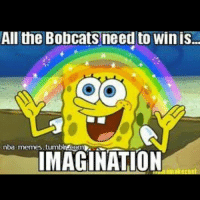 Have in spongebob bobcats ....…its your only hope!❤ yellow spongebob bob sponge bobcats heat miami  miamiheat crazy hope faith imagination amen lol funny ifunny NBAMmemes NBA memes rainbow: All the Bobcats need to Win is.  nba memes. tumblrAcemm2LS  IMAGINATION Have in spongebob bobcats ....…its your only hope!❤ yellow spongebob bob sponge bobcats heat miami  miamiheat crazy hope faith imagination amen lol funny ifunny NBAMmemes NBA memes rainbow