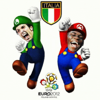 ITALIA  EURO2012  AND  UKRAINE MEET ITALY'S SUPER MARIO BROS 😂🇮🇹
