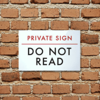 Private and Do Not Read: PRIVATE SIGN  DO NOT  READ Private Sign
