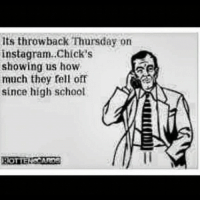 Throwback Thursday: its throwback Thursday on  instagram..Chick's  showing us how  much they fell off  since high school