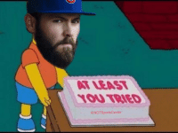 Cubs P Jake Arrieta gives the Reds a souvenir to remember his night:: ATLEAST  YOU TRIED  @NOTSportsCenter Cubs P Jake Arrieta gives the Reds a souvenir to remember his night: