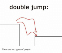 double jump:  There are two types of people. There are two types of people:
