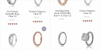 Funny, Girls, and Girl: PANDORA  New  Dazzling Daisy  Classic Elegance,  Band, PANDORA  Clear CZ  TM  & Clear CZ  Rose  $85.00  $90.00  Hearts of  Elegant Sincerity  PANDORA, Clear  Twist Ring, Mother  of Pearl  $65.00  $55.00   PANDORA  Timeless Elegance,  My Princess  Clear CZ  Stackable Ring,  Clear CZ  $85.00  $45.00  New  Hearts Tiara, Clear  Hearts of  PANDORA,  CZ  PANDORA Rose TM  $55.00  & Clear CZ  $90.00  New Y'all could easily get yalls girl one of these for under $100 and she'll be so happy
