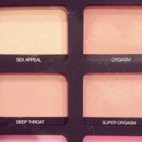 Chill, Deep Throat, and Sex: SEX APPEAL  DEEP THROAT  ORGASM  SUPER ORGASM the people at NARS either need to chill or get laid