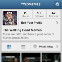 Thank you so much for 100 followers in two days!  Keep it coming!: TWDMEMES  100  19  42  TWD  photos  followers  following  MEMES  Edit Your Profile  The Walking Dead Memes  If you like TWD, and have a good sense of  humor, please follow.  S Photo Map Thank you so much for 100 followers in two days!  Keep it coming!
