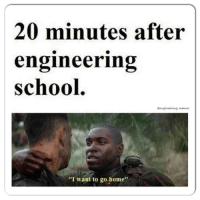 "20 minutes later. 😭😰. engineer funny memes engineering mechanicalengineer civilengineer electricalengineer math science true nolife  calculus cheme aerospaceengineer matlab solidworks cad engineeringlife engineeringmemes industrialengineer chemicalengineer computerengineer: 20 minutes after  engineering  school  aengineering memes  ""I want to go home"" 20 minutes later. 😭😰. engineer funny memes engineering mechanicalengineer civilengineer electricalengineer math science true nolife  calculus cheme aerospaceengineer matlab solidworks cad engineeringlife engineeringmemes industrialengineer chemicalengineer computerengineer"