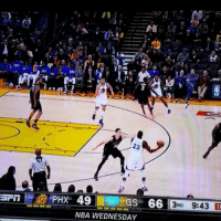 Basketball, Golden State Warriors, and Nba: 23  PHX 49  66 RD  9:43  NBA WEDNESDAY Bogut goes under the legs to find a cutting Curry for the pretty bucket. 🔥🔥🔥 goldenstatewarriors