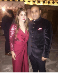 Memes, 🤖, and Mrs: a> a Recent click of Mr. and Mrs. Virender Sehwag