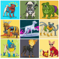 "Memes, 🤖, and Marvel Universe: a  邛  mm Josh Lynch's illustrated series ""Dogs of the Marvel Universe"" is giving us fantastic dog cosplay ideas!🐾 Which Marvel character best describes your dog? (via jlynchart.com)"