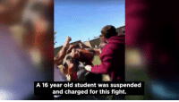 "Memes, School, and Good: A 16 year old student was suspended  and charged for this fight. ""I felt like there was nothing I could do because he was already getting hit by two other people."" Students at a Johnston County high school are rallying around their fellow classmate after they say he was wrongly suspended and criminally charged following a fight. The sophomore said he was just trying to defend his friend who was being attacked by bullies. If you see bullies don't be afraid of standing up to them and defending the weak. That's what good men do. Don't worry about the punishment because you will never live with yourself if you do nothing and stand around like everyone else recording. Tag & Follow @unclesamsmisguidedchildren UncleSamsMisguidedChildren"