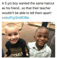 """@Regrann from @tattle.tailzz - Jax Rosebush told his mother last Friday morning that he wanted his hair cropped extremely close when he got it cut over the weekend so he could look exactly like his friend Reddy. Jax said he couldn't wait for his his teacher to see him Monday because she wouldn't be able to tell him and Reddy apart. Jax's mother Lydia Rosebush was so amused by her conversation with Jax, she posted about it on Facebook later Friday morning. Her amusement goes a hair deeper than than the obvious. You see, Jax is a little white boy. And the reason that's important to this story is because Reddy is black. """"He thought it would be so hilarious to confuse his teacher with the same haircut,"""" Lydia wrote. """"If this isn't proof that hate and prejudice is something that is taught I don't know what is. The only difference Jax sees in the two of them is their hair."""" Not their skin color. Reddy and his older brother Enock were born in Africa. They were 2 and 4 years old when they were adopted by Kevin Weldon, pastor of Carlisle Avenue Baptist Church in Louisville, and his wife Debbie. The Weldons are white. """"My sons do not look like me... but we are family all the same,"""" Kevin Weldon said. """"We share the same last name, love each other with all we have, and are a forever family. One day when I am gone, they will inherit all that I have and carry on our family name."""" - regrann Mediaoutrage: A 5 y/o boy wanted the same haircut  as his friend... so that their teacher  wouldn't be able to tell them apart!  buff.ly/2m9CBia @Regrann from @tattle.tailzz - Jax Rosebush told his mother last Friday morning that he wanted his hair cropped extremely close when he got it cut over the weekend so he could look exactly like his friend Reddy. Jax said he couldn't wait for his his teacher to see him Monday because she wouldn't be able to tell him and Reddy apart. Jax's mother Lydia Rosebush was so amused by her conversation with Jax, she posted about it on Facebook later Friday morni"""