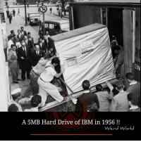 Memes, 🤖, and Ibm: A 5MB Hard Drive of IBM in 1956  Weird World