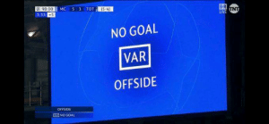 The 4 cruelest words in the English language.: a: 90.00  3:33 +5  (54)  NO GOAL  VAR  OFFSIDE  OFFSIDE  NO GOAL The 4 cruelest words in the English language.