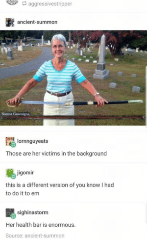 Funny Pictures of men – Strong Garden: A aggressivestripper  ancient-summon  Nanna Gascoigne  lornnguyeats  Those are her victims in the background  jigomir  this is a different version of you know I had  to do it to em  sighinastorm  Her health bar is enormous.  Source: ancient-summon Funny Pictures of men – Strong Garden