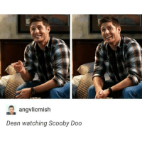 Why does he look soo adorable?: A angvlicmish  Dean watching Scooby Doo Why does he look soo adorable?