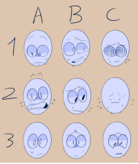 Meme, Target, and Tumblr: A B C  3 00 timetwins: expression meme i scribbled up idc if you repost just credit me i guess