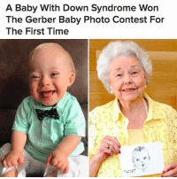 "Memes, News, and Buzzfeed: A Baby With Down Syndrome Won  The Gerber Baby Photo Contest For  The First Time ❤️❤️❤️18-month-old Lucas Warren loves A capella and recently learned how to clap 😍 Ann Turner Cook, the original Gerber baby, told BuzzFeed News she was extremely excited to welcome him into the fold: ""There is no greater privilege than to be a universal symbol for babies all over the world."" (📷: Gerber) Repost @buzzfeednews . . gerber baby downsyndrome representation babies"