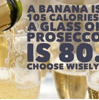 Memes, 🤖, and Glass: A BANANA IS  105 CALORIES  A GLASS  OR  PRO SECCO  IS 30.  CHOOSE WISELY No brainer🍾🍾🍾 goodgirlwithbadthoughts 💅🏻