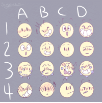 Meme, Target, and The Worst: A BCD sigevens-scribbles: I have like The worst art block So I made an expression meme thing?  You can use it too but like, this is open for requests because I have no ideas what so ever :/