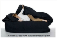 """Life, Girl Memes, and Bean: A bean bag """"bed"""" with built in blanket and pillow I need this in my life 😭 https://t.co/nGz0xpmY9X"""