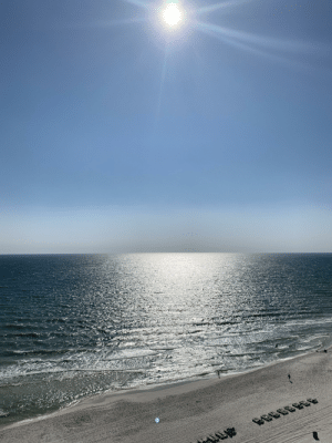 Beautiful, Beach, and Golf: A beautiful view of the golf of Mexico from Panama City beach