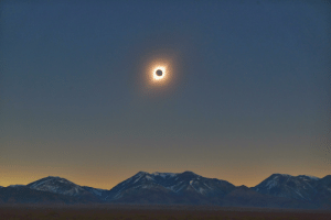 Black, Eclipse, and Sun: A Black Hole Sun - Total Solar Eclipse over The Andes