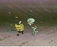 Food, Hurricane Katrina, and Brave: A brave couple walks through the fierce rain and winds of Hurricane Katrina to deliver food to those in need. (2005)