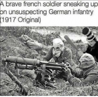 Eiffel Tower Urban Dictionary: A brave french soldier sneaking up  on unsuspecting German infantry  1917 Original)