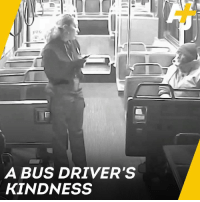 Homeless, Memes, and Cold: A BUS DRIVER'S  KINDNESS A city bus driver refused to let this homeless man stay out in the cold.