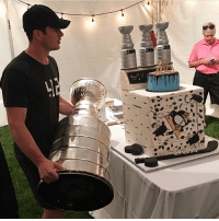 A cake and a cup for the birthday boy Crosby StanleyCup Dryer 30th Birthday HBD SidtheKid: A cake and a cup for the birthday boy Crosby StanleyCup Dryer 30th Birthday HBD SidtheKid