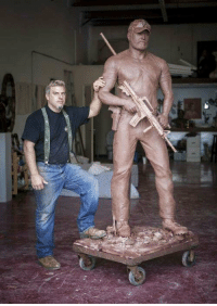 Memes, Chris Kyle, and 🤖: A carved statue of Chris Kyle, this is what i call a masterpiece! https://t.co/znrzqN3pQ0