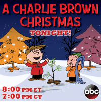Abc, Charlie, and Memes: A CHARLIE BROWN  CHRISTMAS  TONIGHT!  PNTS  8:00 PM ET  OCC  7300 PM CT A Charlie Brown Christmas airs tonight at 8/7c on ABC Television Network!