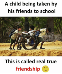 Double Tap if this is amazing 👍🏻 Happy Friendship day ❤️ Follow @_dekhbhai_ for awesome memes 👍🏻: A child being taken by  his friends to school  dekhpha  This is called real true  friendship Double Tap if this is amazing 👍🏻 Happy Friendship day ❤️ Follow @_dekhbhai_ for awesome memes 👍🏻