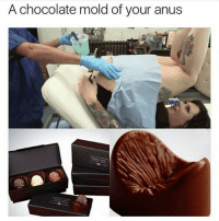Huh, Memes, and Wtf: A chocolate mold of your anus WTF foreals ilikechocolate noshit huh shelookssohappy