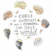 Can, Circle, and Mission: A CIRCLE  WITH a MISSION  CAN SAVE