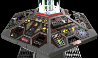 A classic design of the TARDIS console: A classic design of the TARDIS console