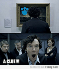 "A CLUE!!  featured on  iFunny.com Take a moment to imagine Watson as Blue. ""Ba ba ba!"" XD  -Selebrasaurus"