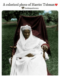 "Christmas, Crying, and Head: A colorized photo of Harriet Tubman  theblaquelioness Harriet Tubman helped her brothers escape on Christmas day, 1854. Their 'master' intended to sell them after Christmas, but was delayed by the holiday. The brothers were expected to spend the day with their elderly mother but met Tubman in secret. She helped them travel north, gaining a head start on the master who did not discover their disappearance until the end of the holidays. Two years later she brought away her parents, who were at risk of arrest for aiding other runaways slaves. . Tubman returned to the South again and again. She devised clever techniques that helped make her ""forays"" successful, including using the master's horse and buggy for the first leg of the journey; leaving on a Saturday night, since runaway notices couldn't be placed in newspapers until Monday morning; turning about and heading south if she encountered possible slave hunters; and carrying a drug to use on a baby if its crying might put the fugitives in danger. Tubman even carried a gun which she used to threaten the fugitives if they became too tired or decided to turn back, telling them, ""You'll be free or die."" . HarrietTubman theblaquelioness"