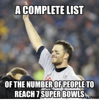 The one and only player who can say this Credit: Joe Hardesty: A COMPLETE LIST  OF THE NUMBER OF PEOPLE TO  REACH T SUPER BOWLS  a Memet The one and only player who can say this Credit: Joe Hardesty