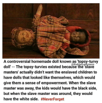 A Controversial Homemade Doll Known as Topsy-Turvy Catheblaquelipness Doll the Topsy-Turvies Existed Because the Slave Masters' Actually Didn't Want the ...