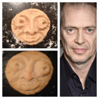 A cookie that looks like Steve Buscemi 😂😂😂: A cookie that looks like Steve Buscemi 😂😂😂