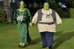 A couple got married as Shrek and Fiona in real life: A couple got married as Shrek and Fiona in real life