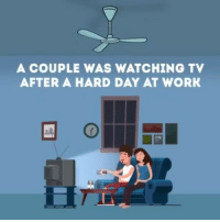 Funny, Memes, and True: A COUPLE WAS WATCHING TV  AFTER A HARD DAY AT WORK 😁😂 very funny! Also true!!