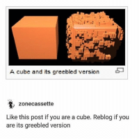 this is like a before and after pic of celebrities but 28366373x better - Max textpost textposts: A cube and its greebled version  zonecassette  Like this post if you are a cube. Reblog if you  are its greebled version this is like a before and after pic of celebrities but 28366373x better - Max textpost textposts