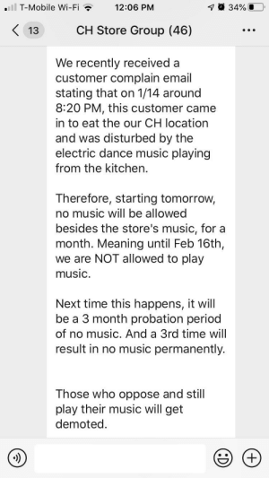 """A customer complained about the music in the kitchen so now we can't have any music. The one little thing about work we can enjoy and a fucking """"Karen"""" was like not on my watch.: A customer complained about the music in the kitchen so now we can't have any music. The one little thing about work we can enjoy and a fucking """"Karen"""" was like not on my watch."""