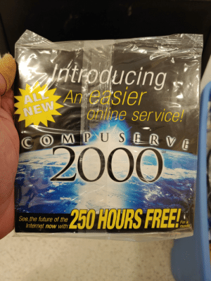 A customer handed me a box of old cables and manuals and asked if they needed to keep any of it. This was on top. There was a Windows 98 SE disc, shrink-wrapped below it.: A customer handed me a box of old cables and manuals and asked if they needed to keep any of it. This was on top. There was a Windows 98 SE disc, shrink-wrapped below it.