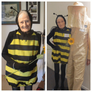 A cute amazon review I revisit just for a smile. An 88 year old woman and her 92 year old husband attend a Halloween party. Btw they liked the bee costume.: A cute amazon review I revisit just for a smile. An 88 year old woman and her 92 year old husband attend a Halloween party. Btw they liked the bee costume.