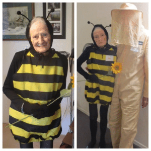 A cute amazon review I revisit just for a smile. An 88 year old woman and her 92 year old husband attend a Halloween party. Btw they liked the bee costume. (from r/aww): A cute amazon review I revisit just for a smile. An 88 year old woman and her 92 year old husband attend a Halloween party. Btw they liked the bee costume. (from r/aww)