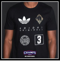 Memes, Sports, and Game: A D D A  O RI G I N A L S  G3 STREIFENZ  THE BRANDD  E 3  CHAMPS  SPORTS  WE KNOW GAME. The Brand With The Three Stripes. @adidasoriginals tees now at Champs.